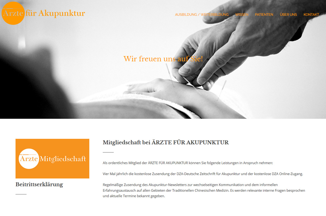 sitedefinition / Corporate Design / Ärzte für Akupunktur