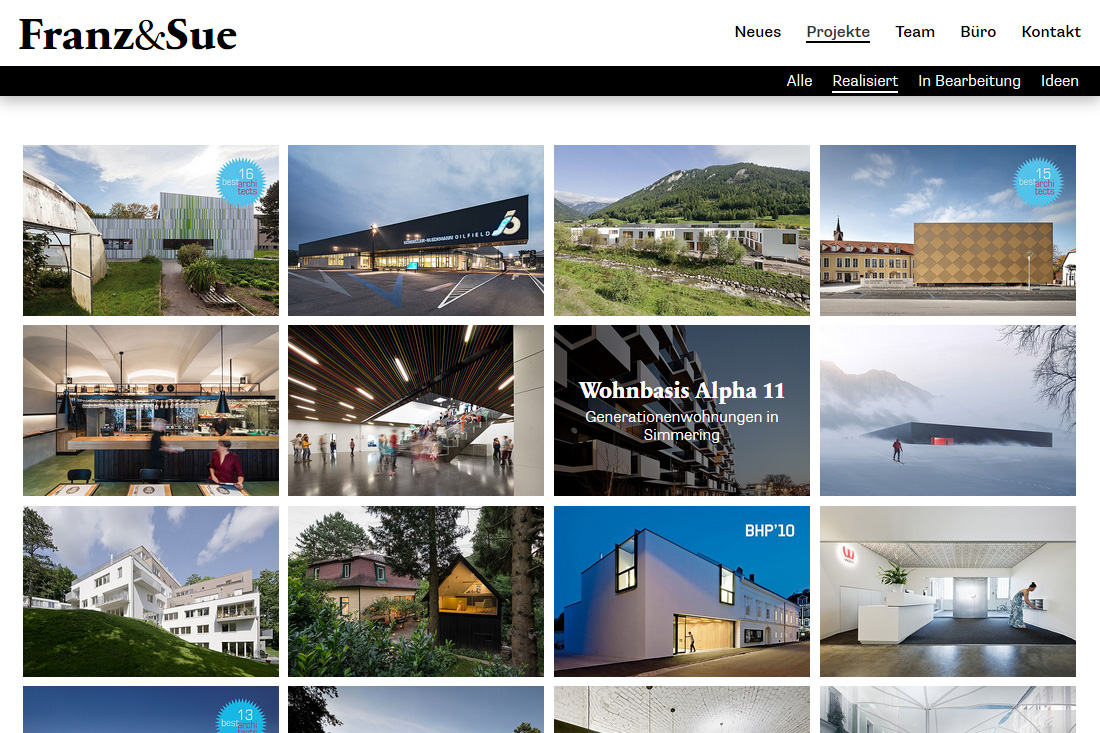 sitedefinition / cms website / franz architekten